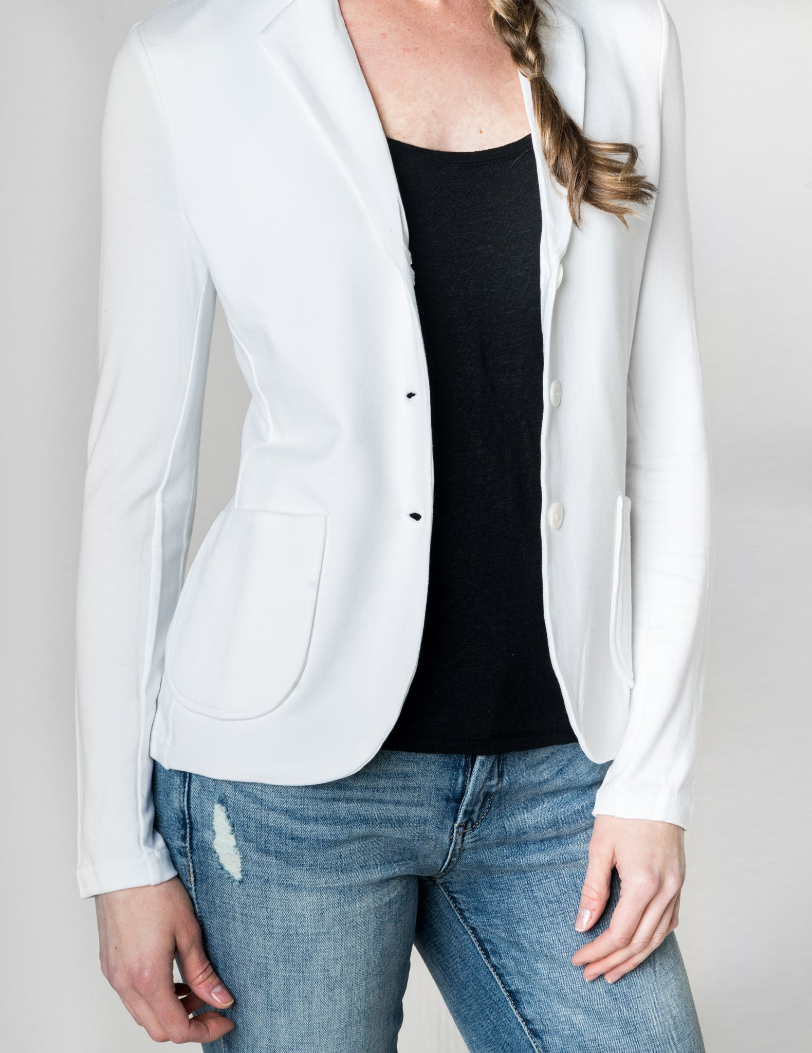 Majestic Basic Blazer in White