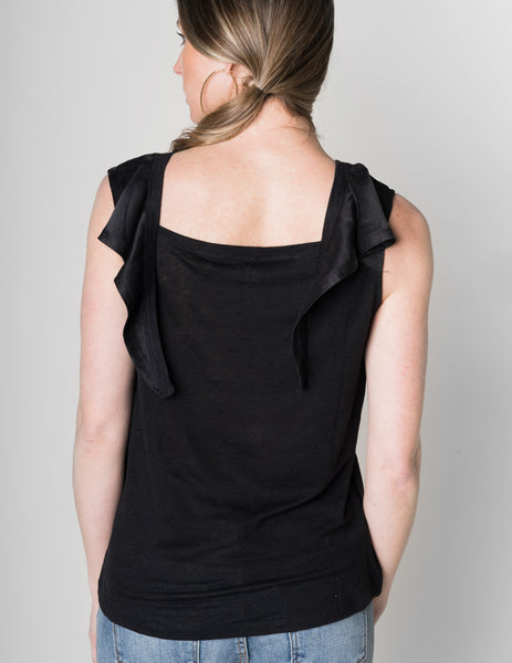 Majestic Sleeveless Silk & Linen Top