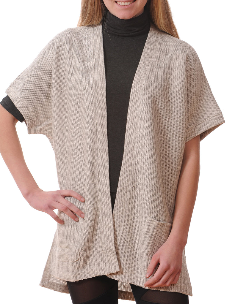 Majestic Open Cardigan in Beige