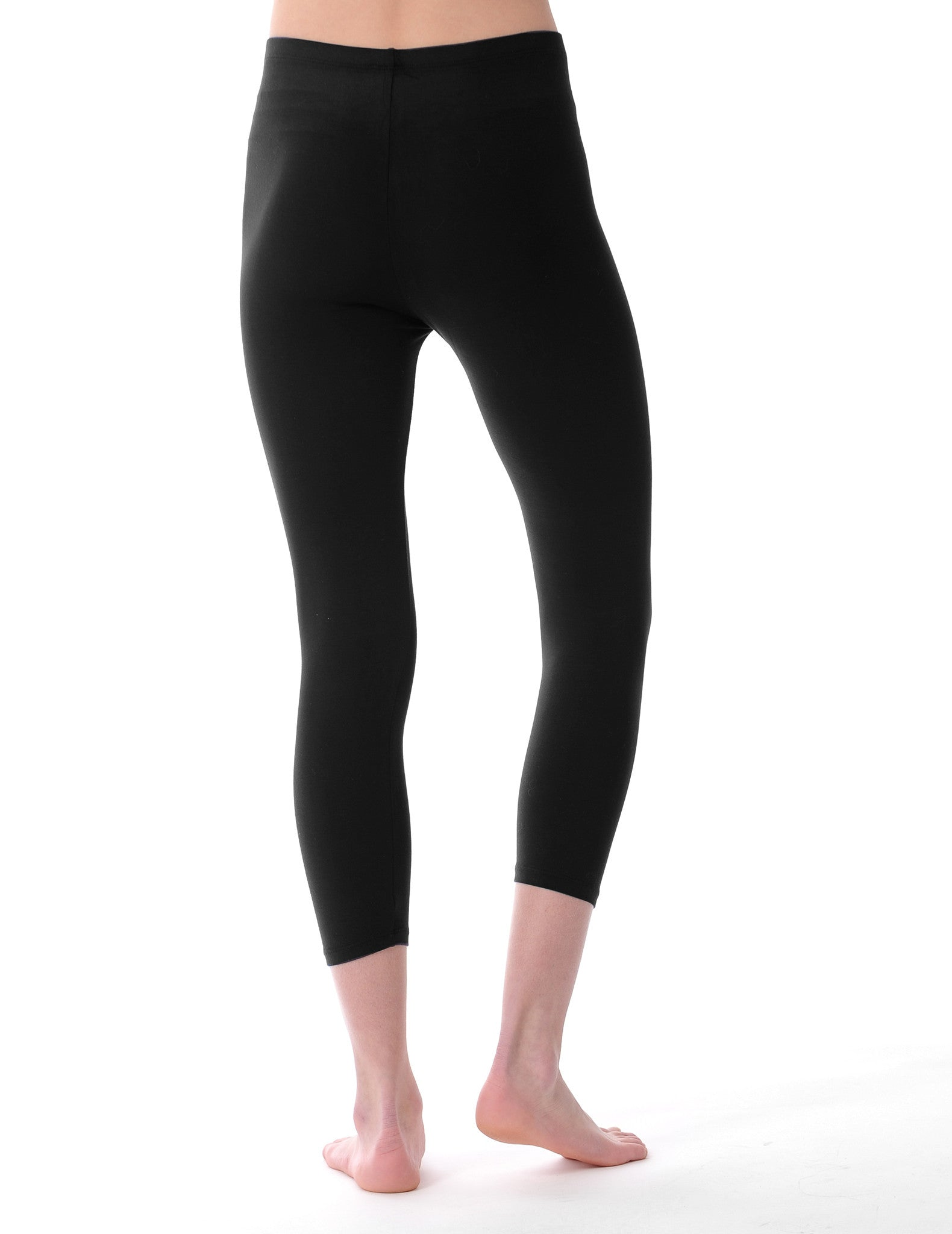 Majestic Cropped Basic Legging in Black