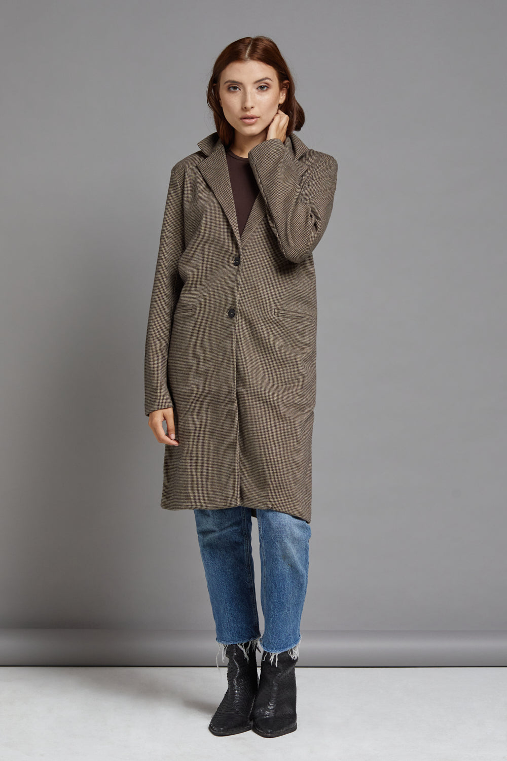 Majestic Cotton Houndstooth Coat