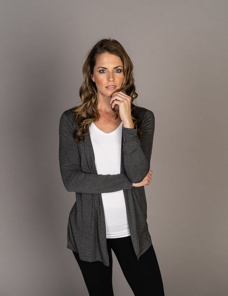 Majestic Long Sleeve Extrafine Open Cardigan