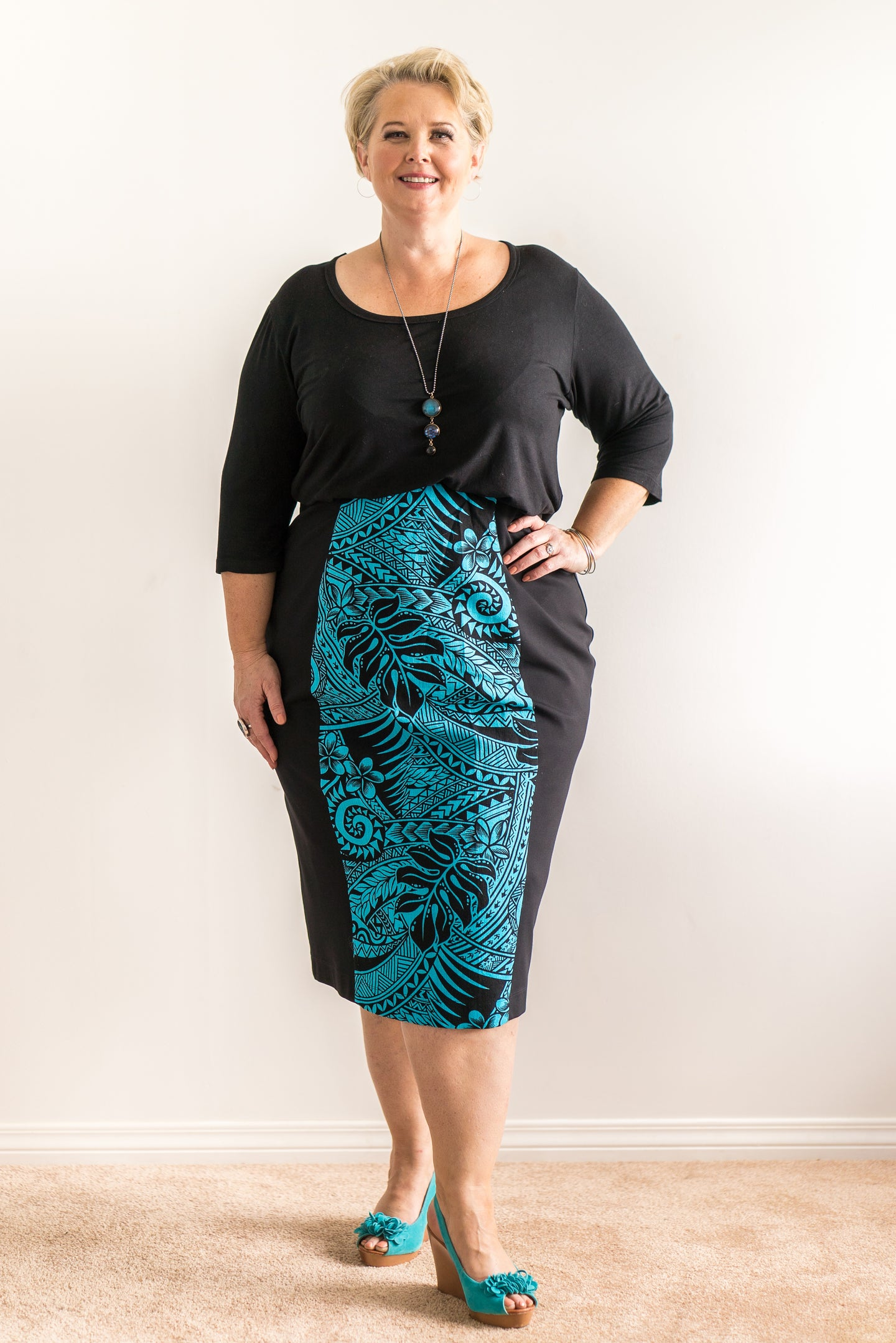 Pencil skirt plus size. Designed by firefly by Rachel Harrison