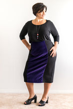 Velvet Pencil plus size Skirt, Size 1, Firefly by rachel harrison.