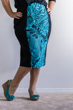 'Turquoise Tapa' Pencil Skirt