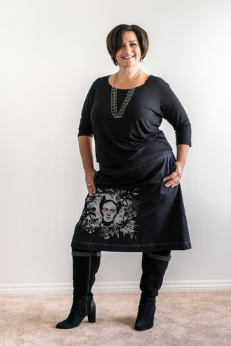 Friday Pasifika plus size A-line skirt. Designed by Firefly by Rachel Harrison