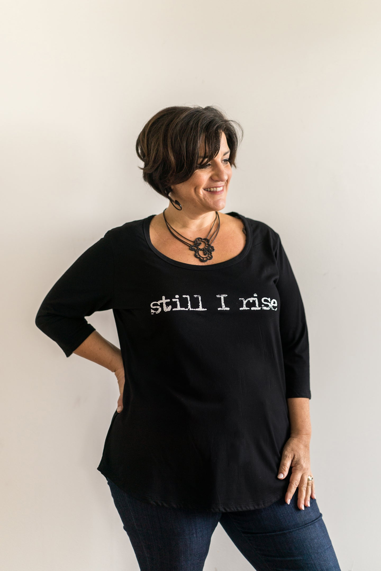 'Still I Rise' 100% Cotton Printed Top