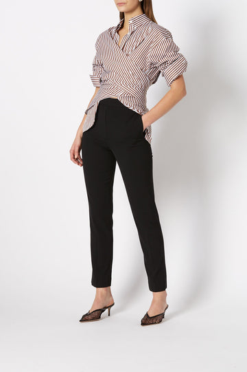 TAILORED SLIM CROPPED TROUSER BLACK