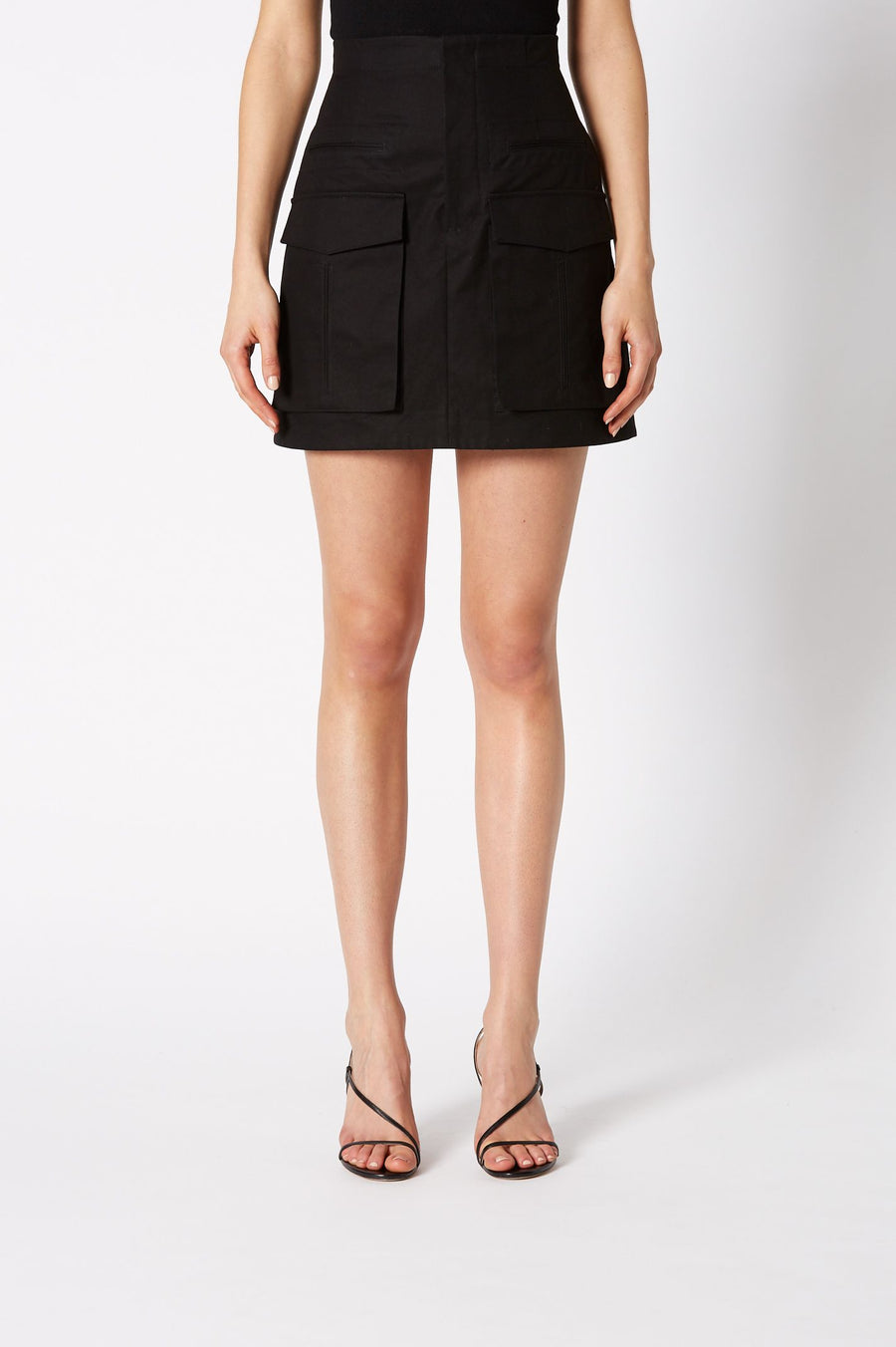 POCKET SKIRT BLACK