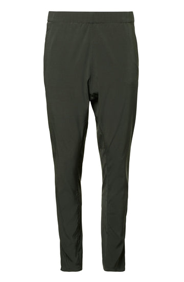 Silk Low Rise Boyfriend Pant, relaxed fit, incased elastic waist, dropped crotch, slanted pockets, Color Safari