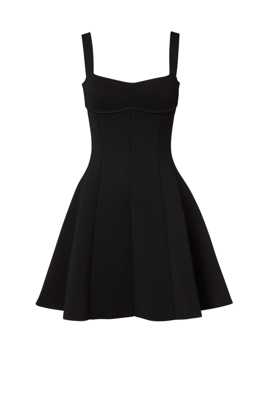 CREPE KNIT BRALETTE DRESS BLACK