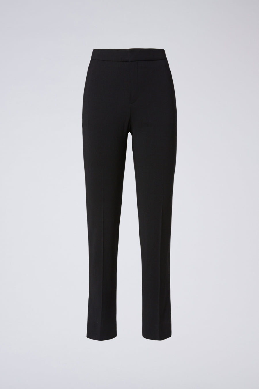 Atelier Slim Cropped Trouser, cropped pant, welt and a flap back pocket, hook and bar closure, Color Black