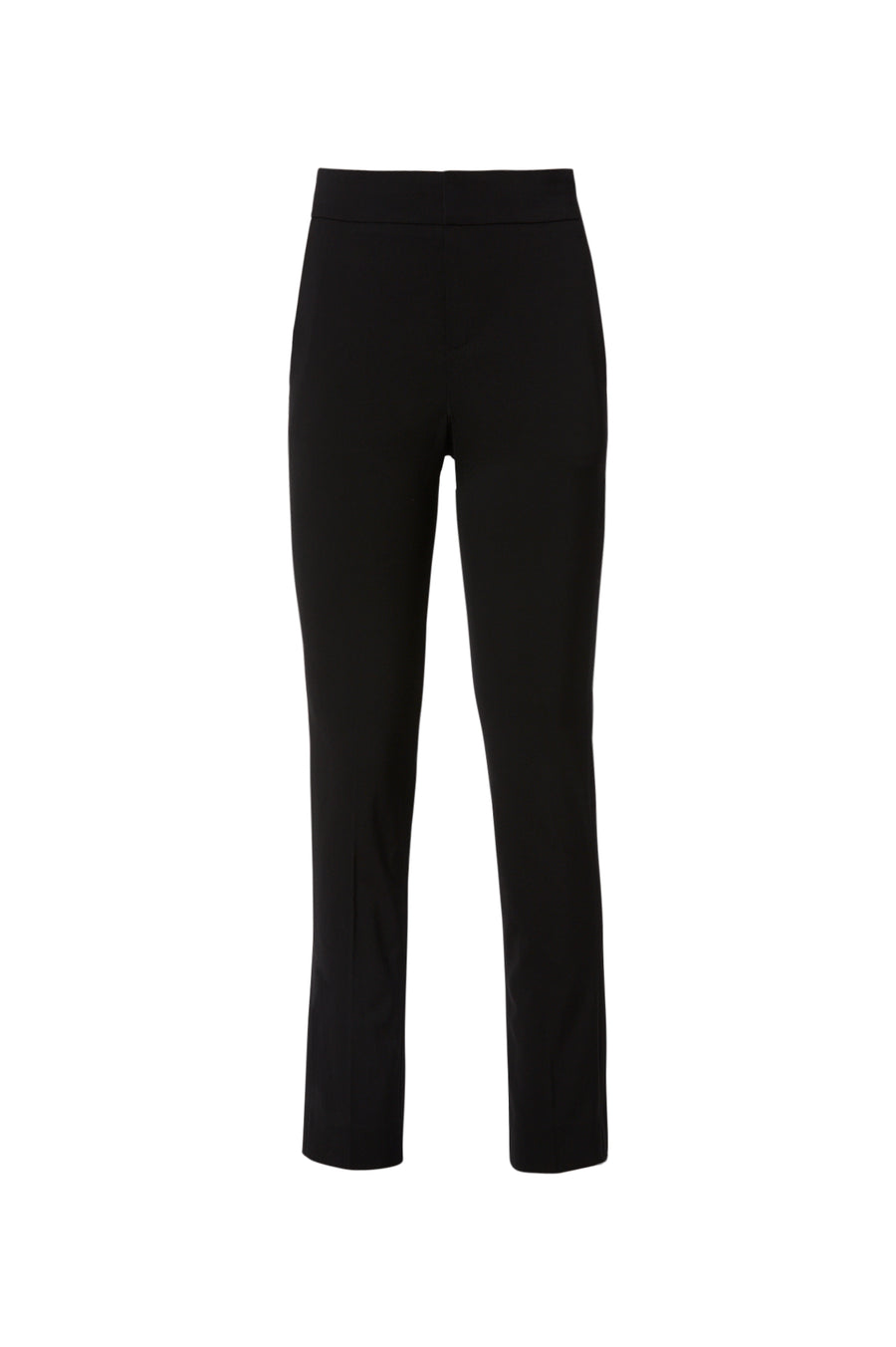 Tailored Slim Cropped Trouser, sits high on the waist, zip and button fastening, slim-leg silhouette, sits just above the ankle, Color Black