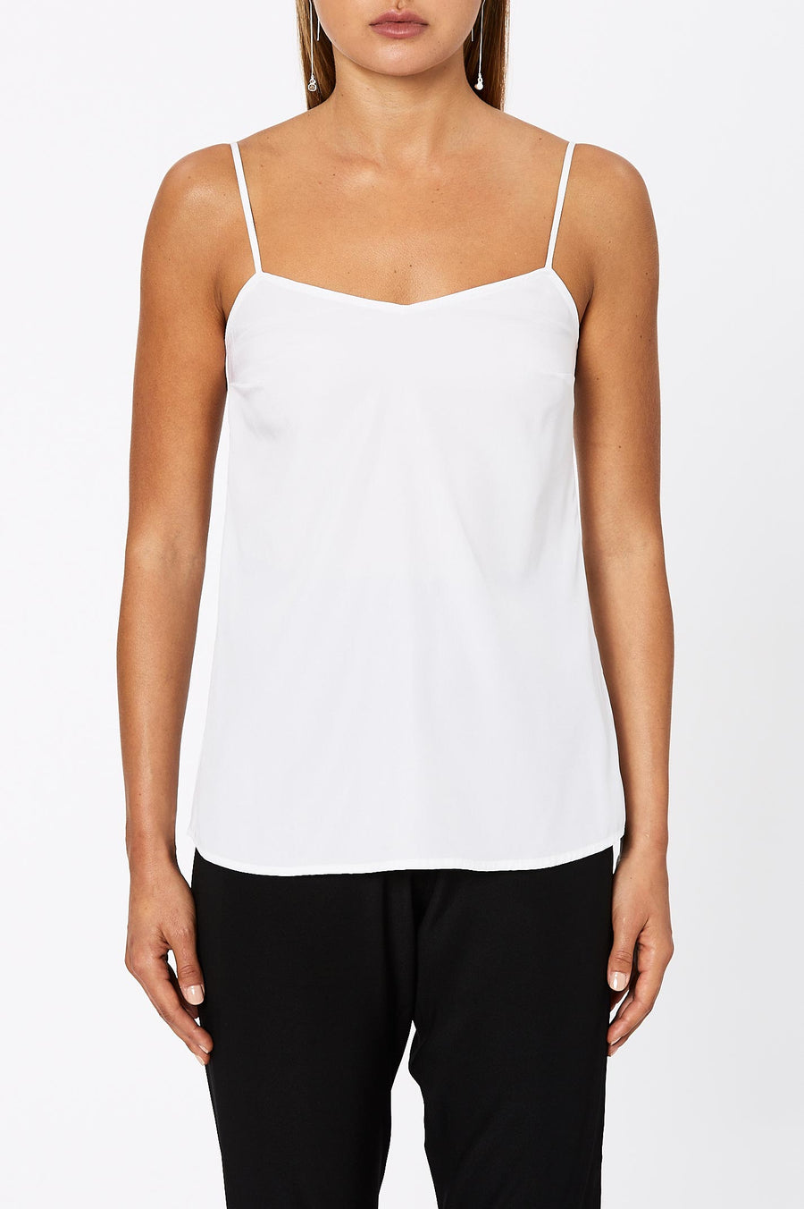 SHOESTRING CAMISOLE OPTICAL WHITE