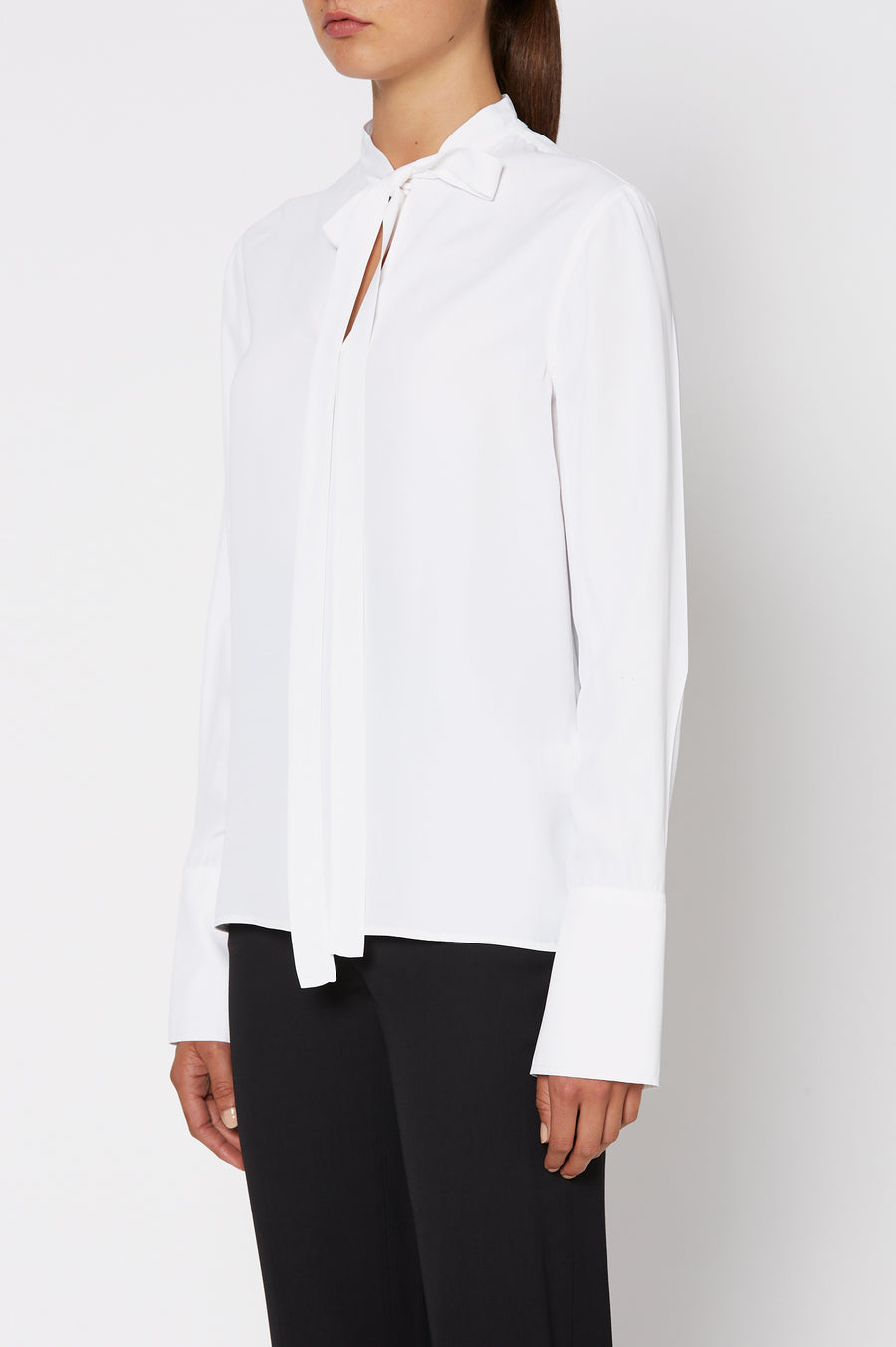POWDERED VISCOSE BLOUSE, WHITE color