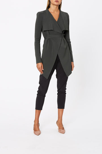 Crepe Knit Jacket Safari - Scanlan Theodore