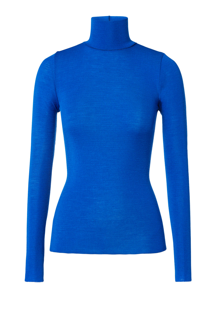 Babywool, 100% Australian Extrafine Merino, Long Sleeve, Turtleneck, color Blue