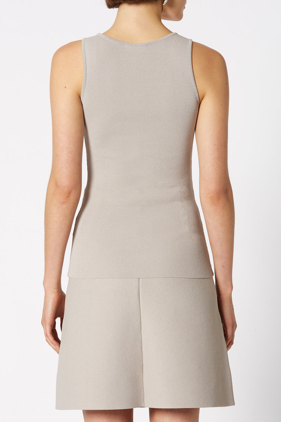 CREPE KNIT SINGLET OYSTER