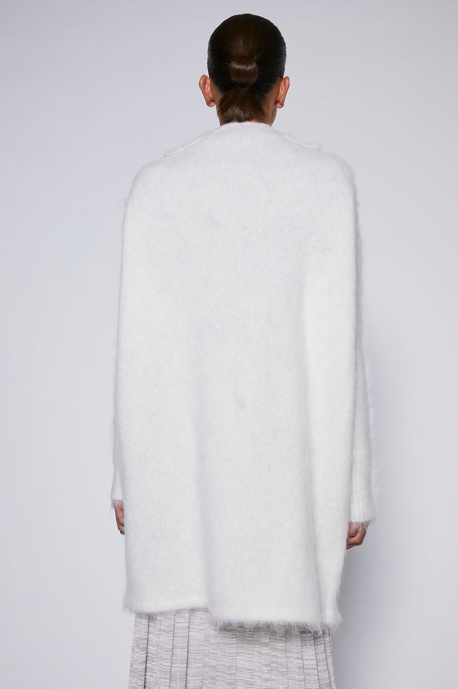 Brushed Mohair Cardigan 3 White