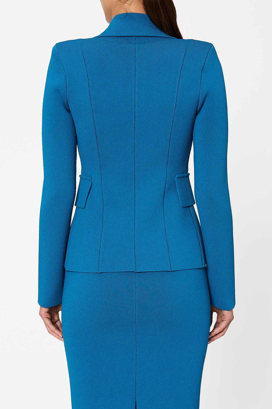 Crepe Knit Tailored Jacket Oceano - Scanlan Theodore