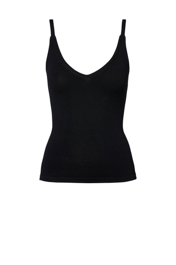 Crepe Knit Cropped Camisole Black - Scanlan Theodore