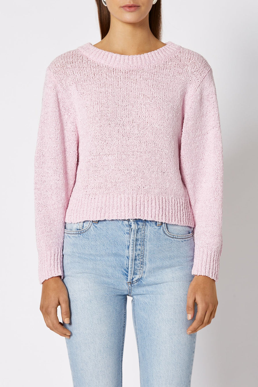 CROPPED SWEATER 3, Ribbed neckline, hem and sleeve openings