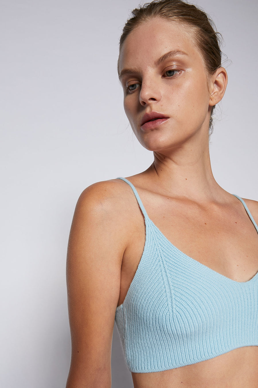 Cashmere Bralette 7 Powder Blue