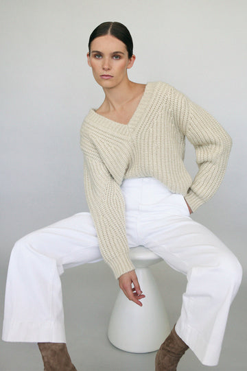 Cocoon Sweater 3 Creme - Scanlan Theodore