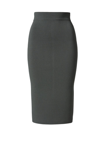 Crepe Knit Slit Back Skirt Safari - Scanlan Theodore