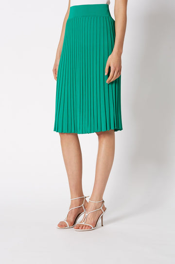 PLEATED RIB SKIRT 16 VERDE