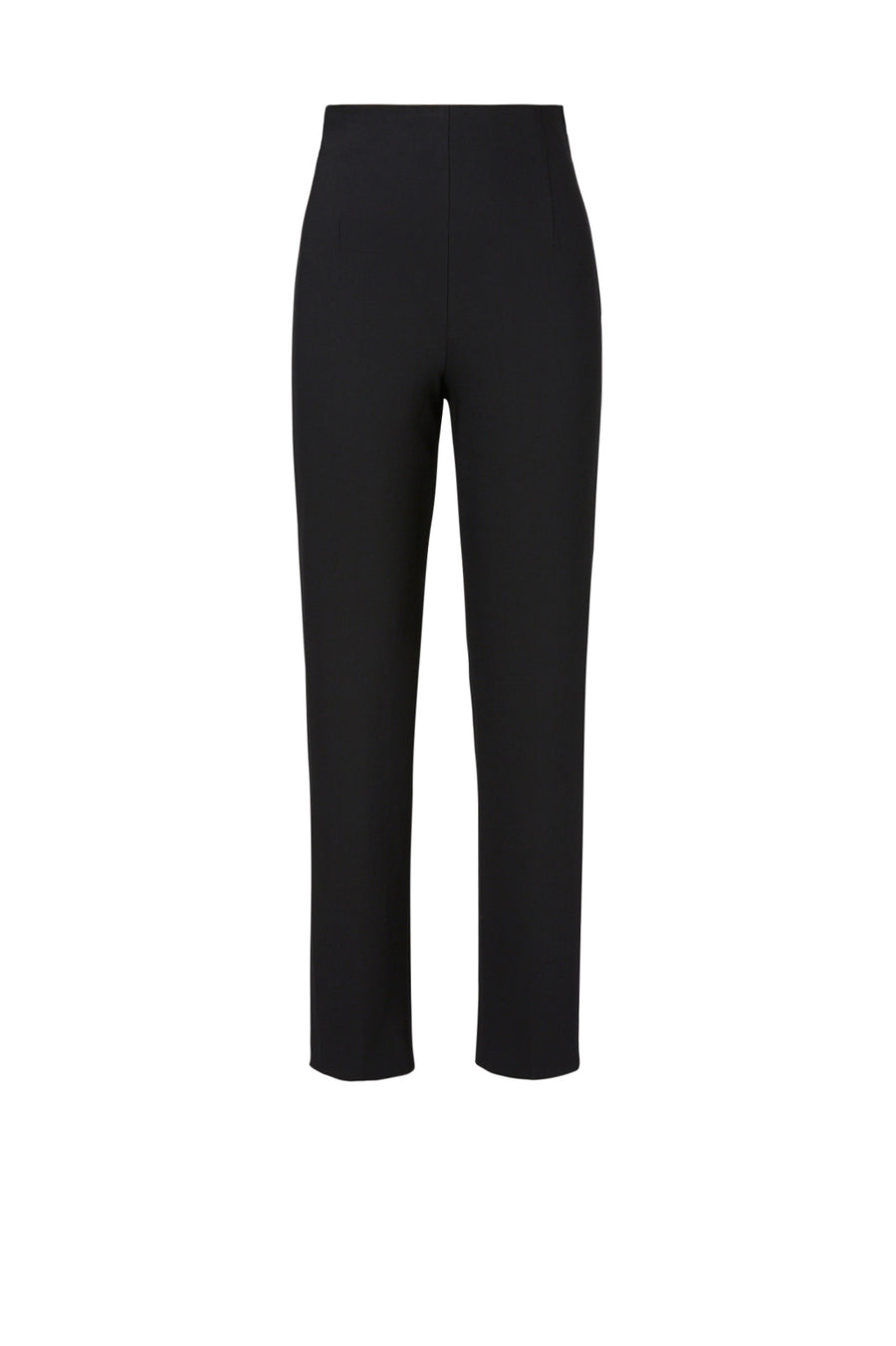 With a high rise and flattering slim leg, the trouser fastens with a side zip closure for ease of wear.