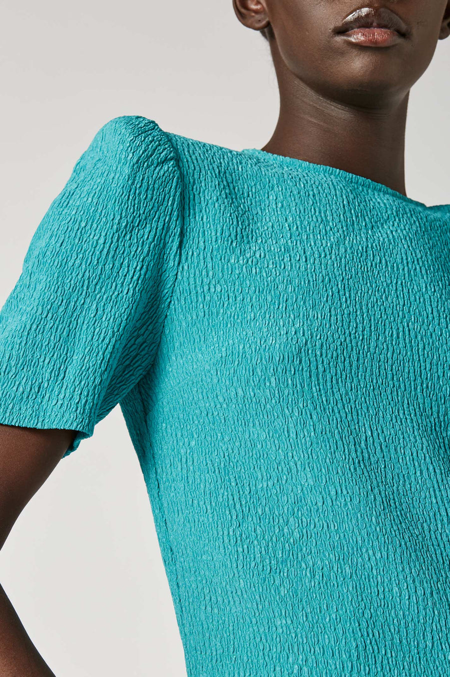 Experiment with textures in our Stretch Reptile Top.