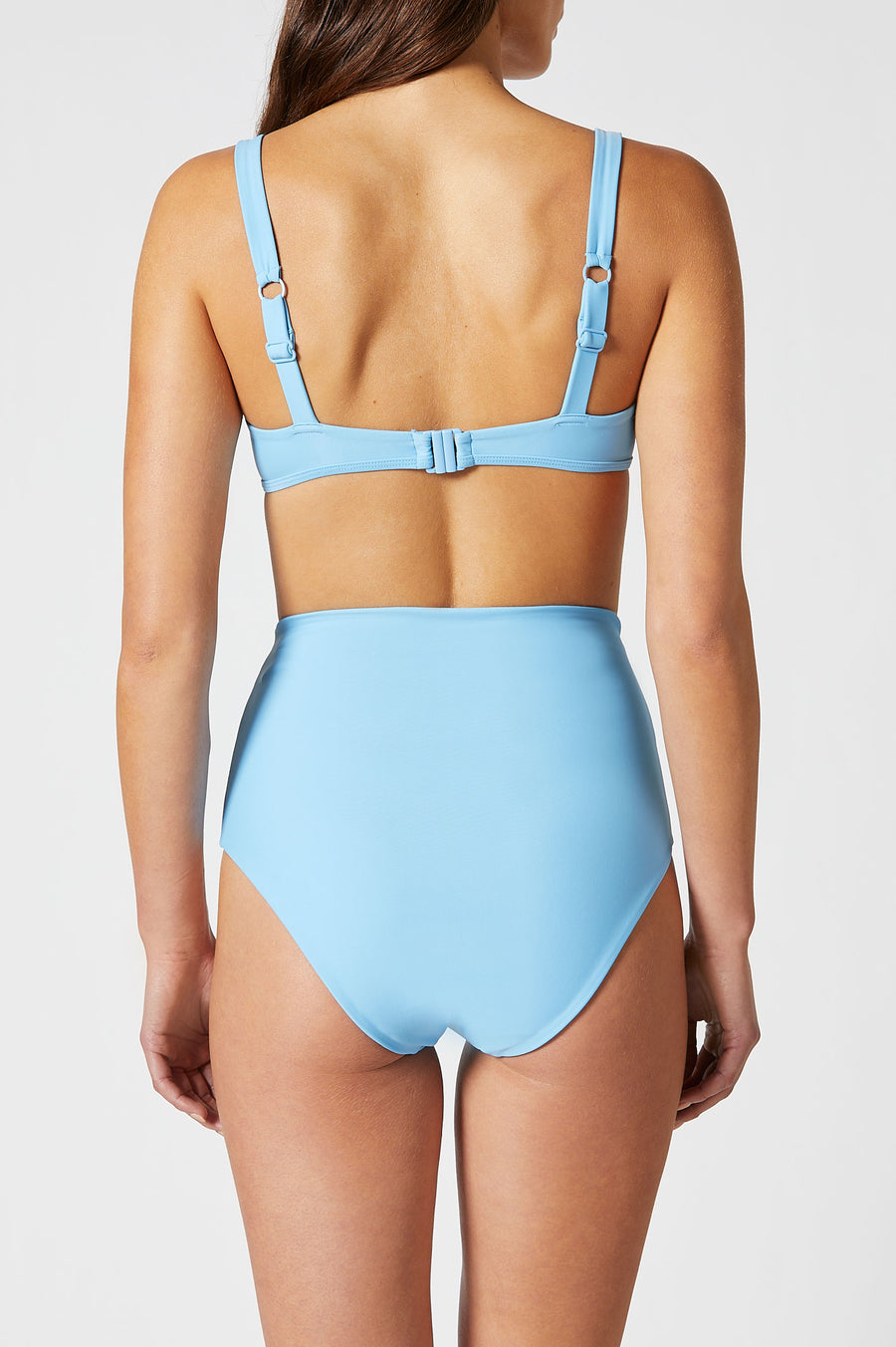 The Square Bikini Top features thick, supportive straps and a flattering square neckline.