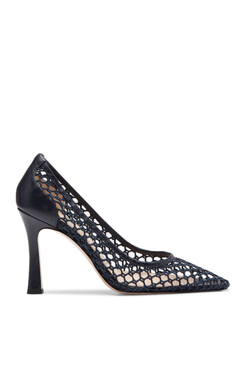 The pump is finished with a chiseled toe and set atop a 9.5cm stiletto heel.