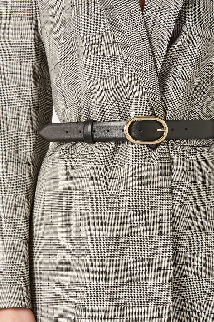 Crafted in Italy from luxuriously soft leather and embellished with a sleek gold buckle.