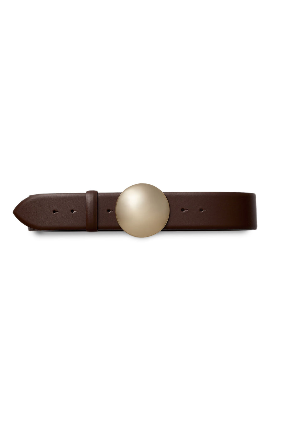 Crafted from luxurious Italian leather, it fastens with a gold dome push stud.