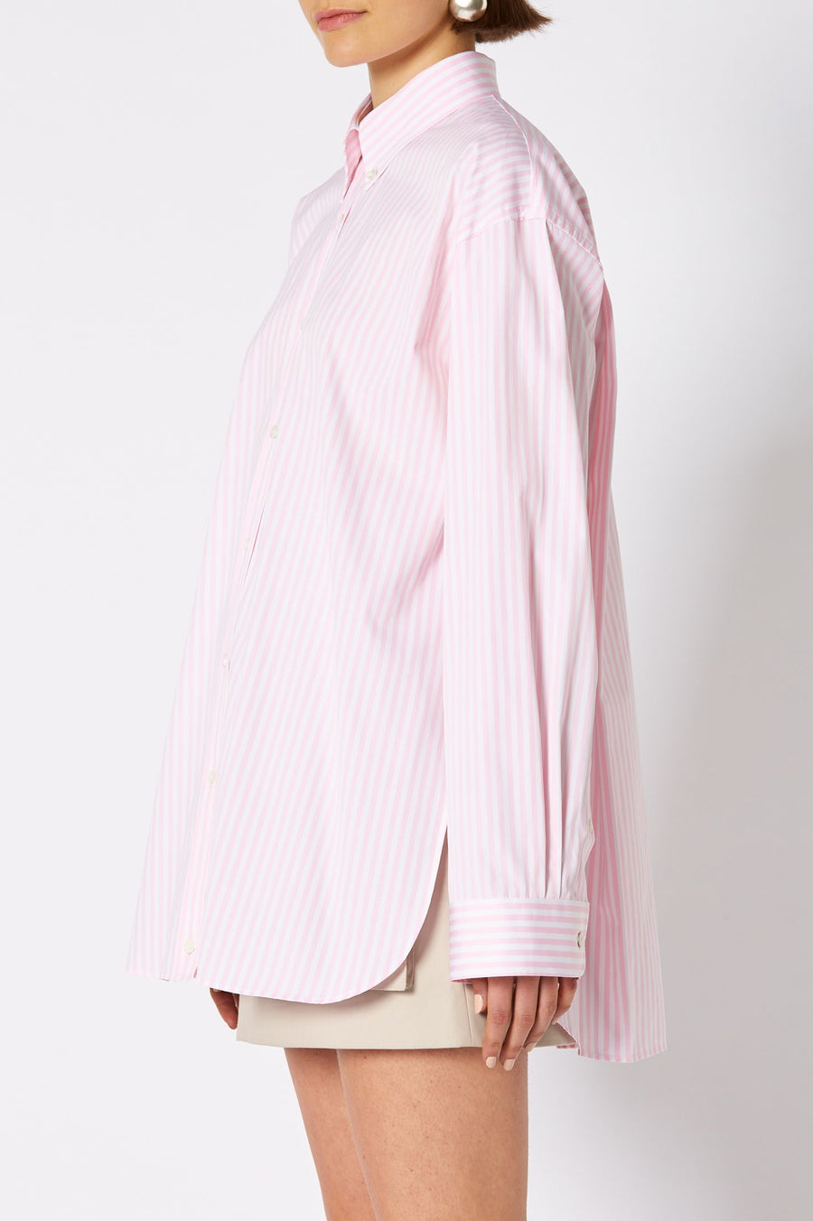 BUTTON COLLAR SHIRT PALE PINK