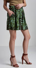 CDC TROPICAL PRINT PLEAT SHORT