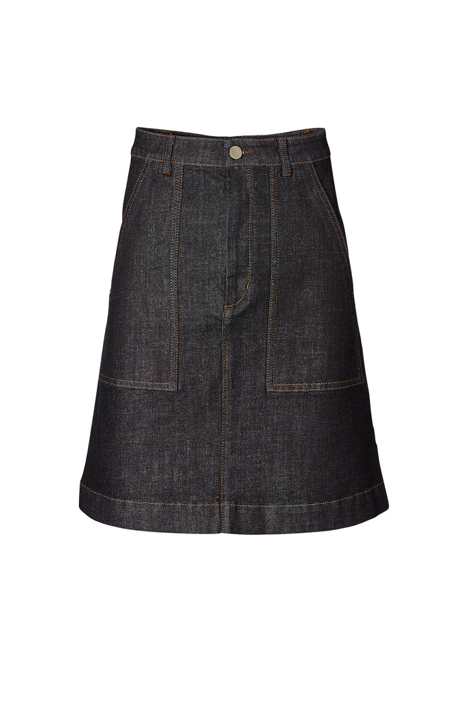 4295d0ab7d READY TO WEAR - group PATCH POCKET JEAN SKIRT