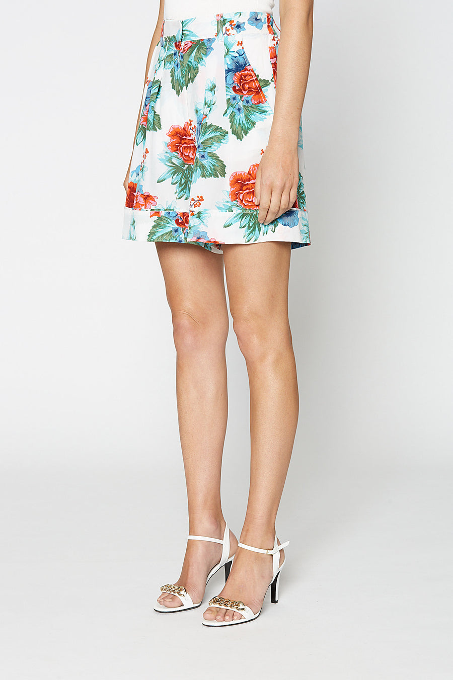 CDC MYSTIC FLORAL SHORT BLUE, BLUE color