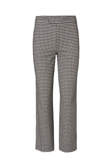 GINGHAM TAILORED PANT, BLACK color