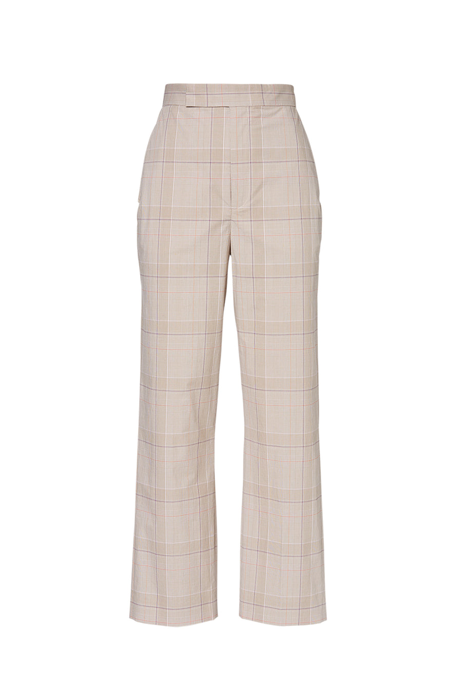 CHECK SLIM FIT TROUSER