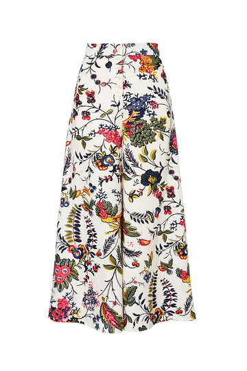 PROVENCE BUTTON FRONT TROUSER, FLORAL color