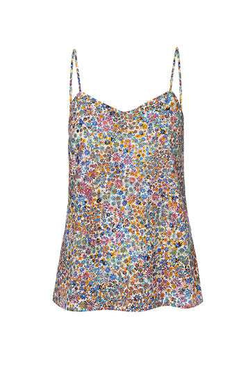 WILD FLOWER CAMISOLE, BLUE color