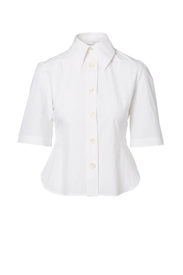 SHORT SLEEVE SHIRT, WHITE color