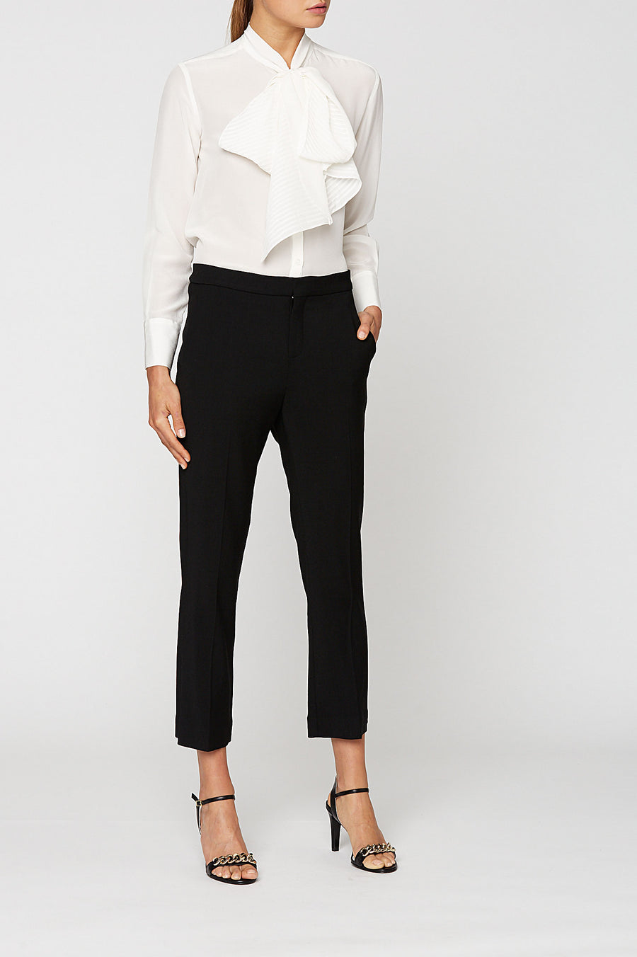 CDC PINTUCK TIE BLOUSE