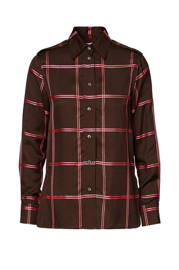 CHECK SHIRT, MORO PINK color