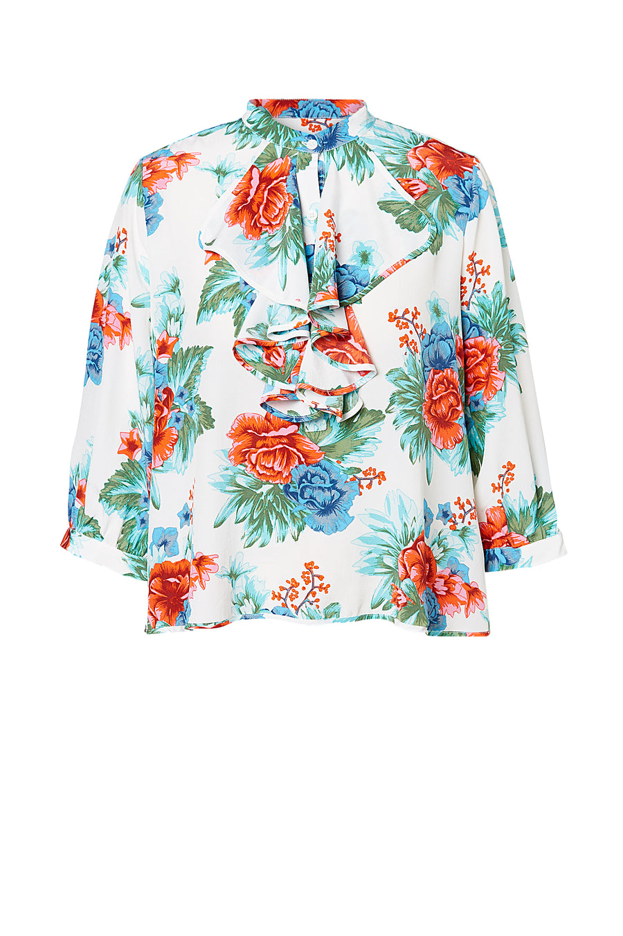 CDC MYSTIC FLORAL RUFFLE BLOUSE