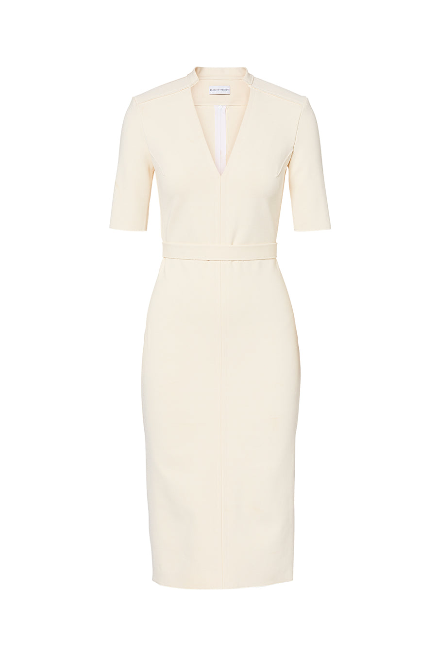 MILANO V NECK DRESS CREME