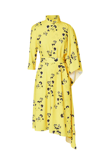 FANITA PRINT DRESS, LEMON color